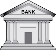 Bank Gray Clipart