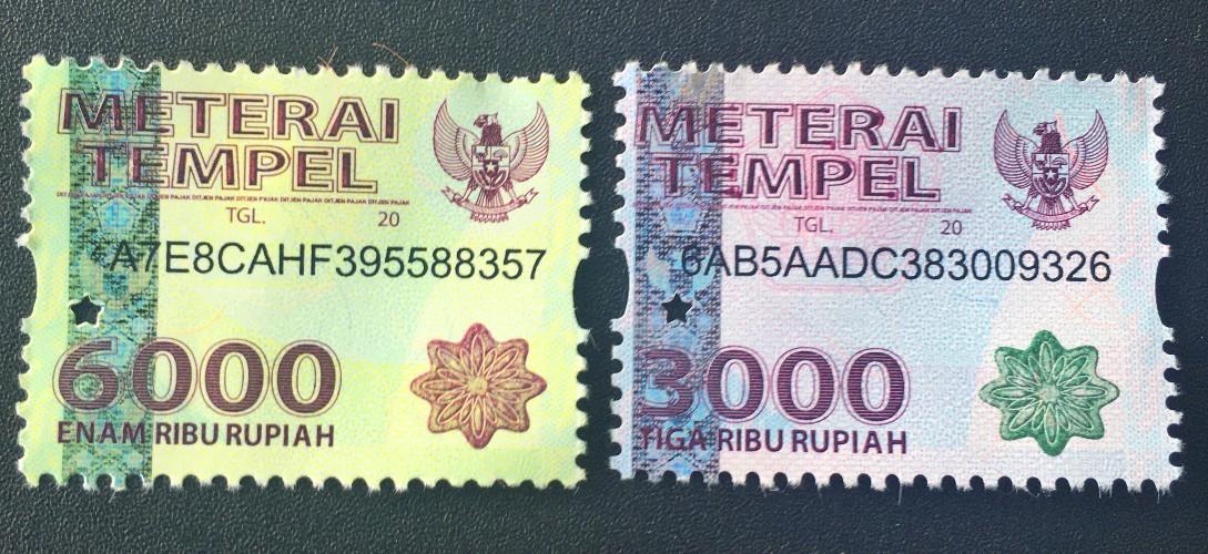 Perbedaan Penggunaan Meterai 6000 dan Meterai 3000 Pada Suatu Dokumen